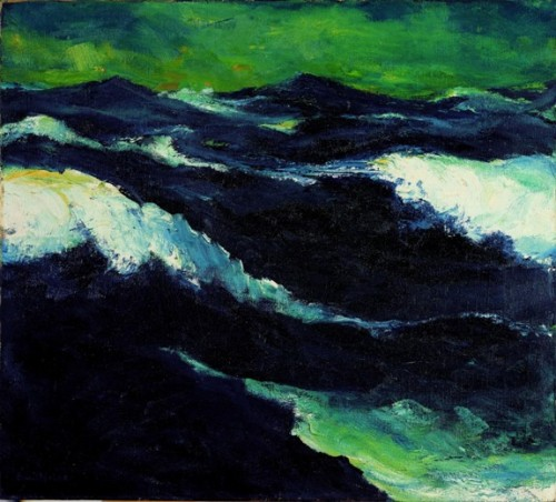 poboh:  The See III, 1913, Emil Nolde. German Expressionist Painter (1867 - 1956)