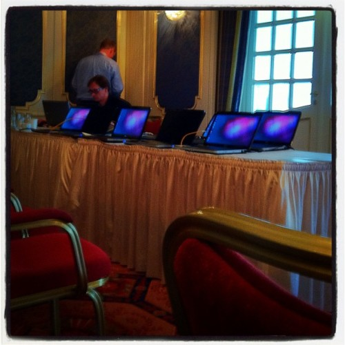 Mobile Cluster? #jaxcon (Taken with Instagram at Rheingoldhalle Mainz)