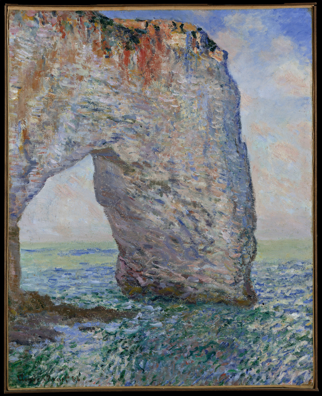 Claude Monet - The Manneporte near Etretat, 1886. Oil on canvas