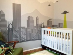 Very cool baby room - alien invasion