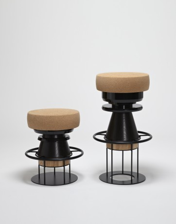 Bolt stools by Note Design Studio Salone del Mobile, Milan 2012