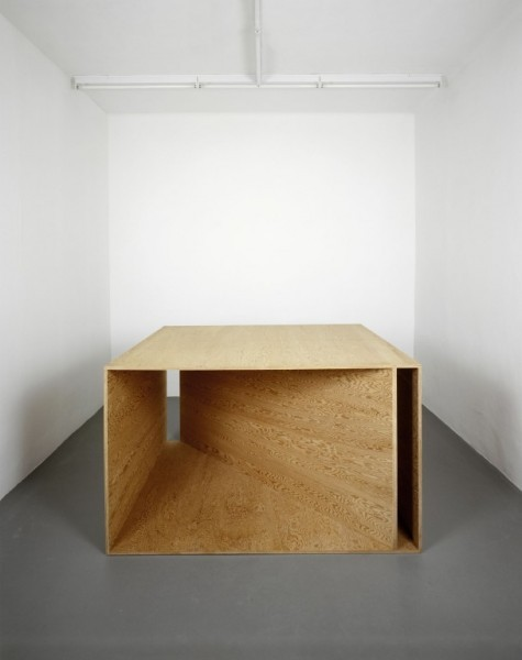 remash:  plywood sculpture  ~ donald judd