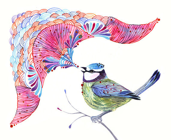 aplaceforart:  singing bird