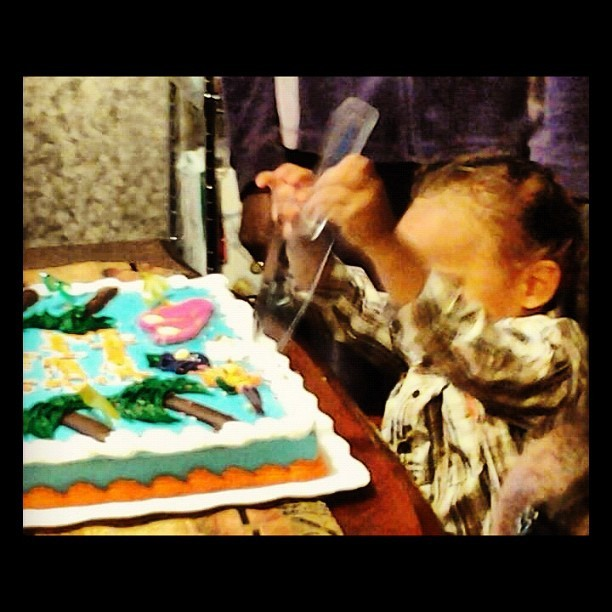 "Happy Bday BOO BOO BEAR! You are such a ""LEFTY"" just like your AUNTIE TEEWEE! 🎂 (Taken with instagram)"