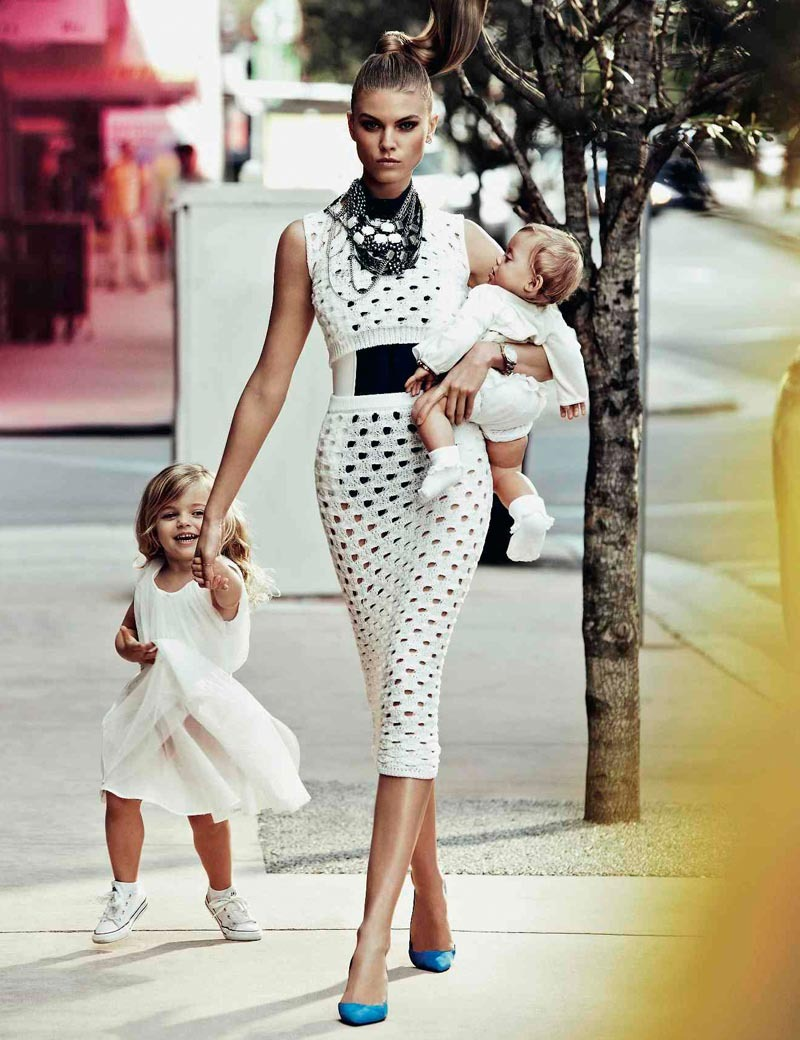 Fiercest. Mom. Ever.  Maryna Linchuk by Alexi Lubomirski for Vogue Russia May 2012