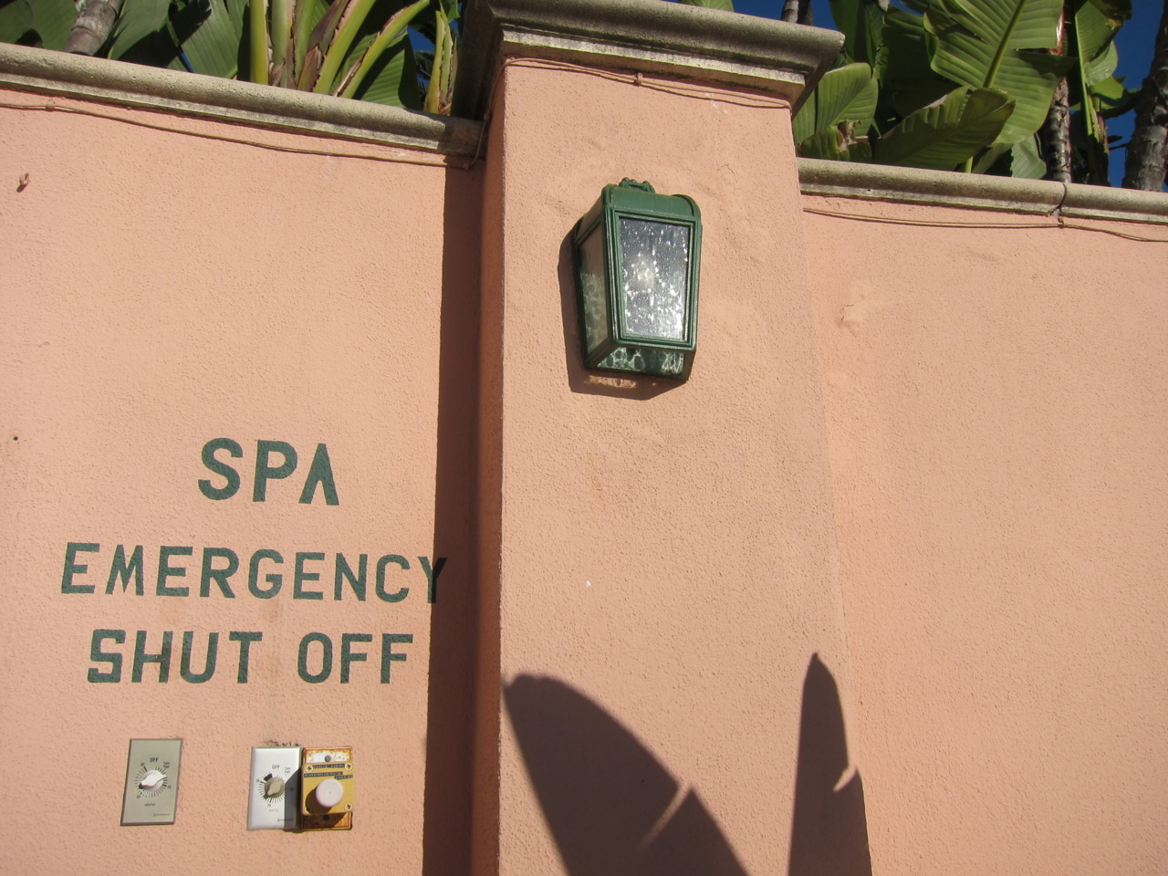 SPA EMERGENCY SHUT OFF