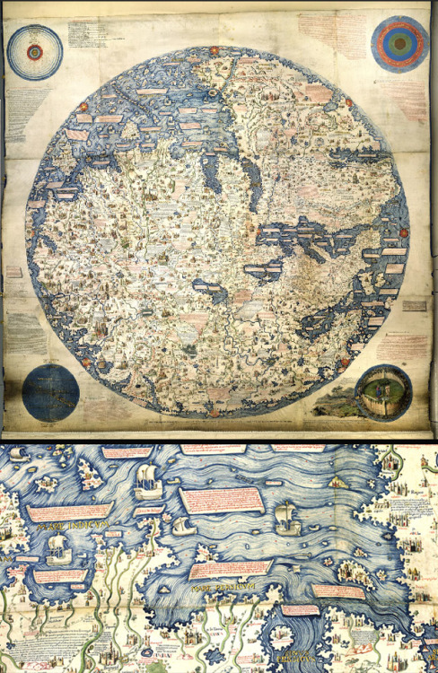 explore-blog:  An 1804 copy of the first 'modern' world map, made by the Venetian monk Fra Mauro in about 1450, and more magnificent maps as power, propaganda, and art from The British Library.