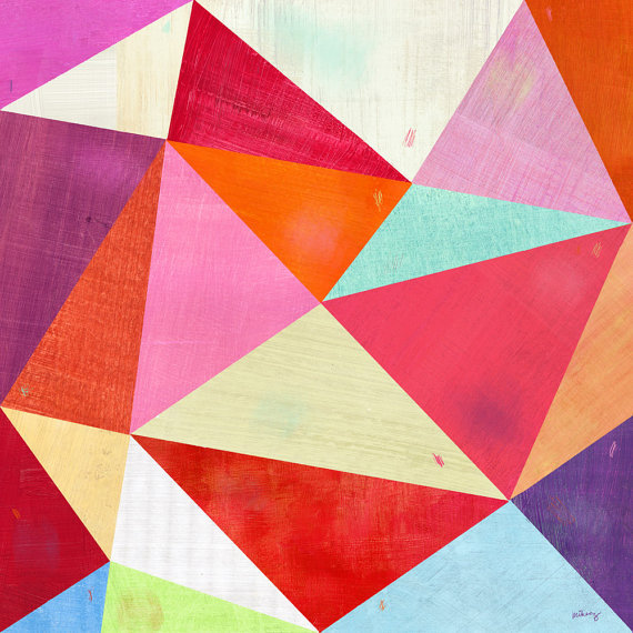 aplaceforart:  (via Pink Triangle Print 12x12 by twoems on Etsy)