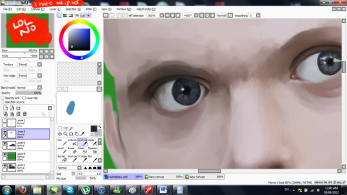 i am going to die of old age before i finish this painting i swear to god