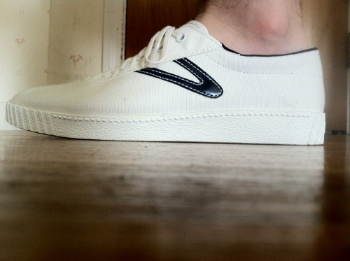 I got myself some awesome canvas sneakers. I like them a lot. On Zappos: Tretorn Nylite