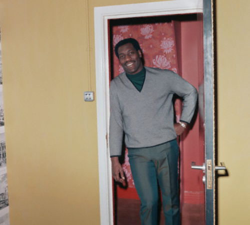 tornandfrayed:  Otis Redding in London, England in 1966. Photo courtesy of the Michael Ochs Archives.