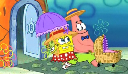 Remember that episode of Spongebob Squarepants in which Spongebob and Patrick adopt an orphaned clam baby and form a platonic, genderqueer, gay relationship?