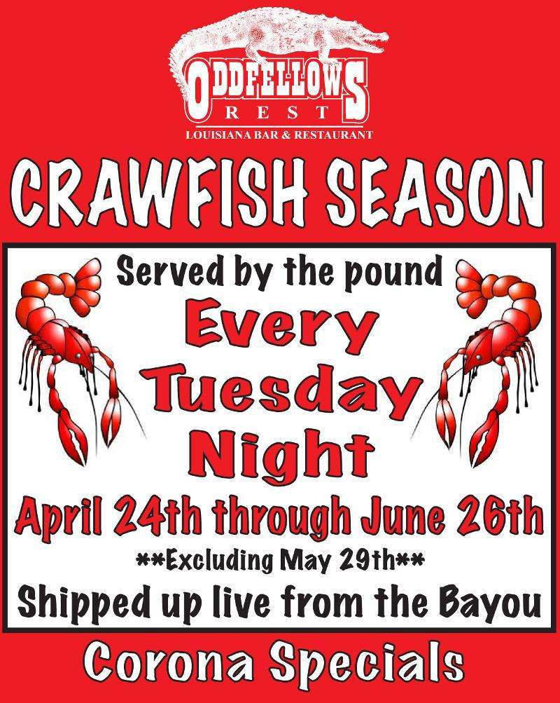 Crawfish season is back at Oddfellows!