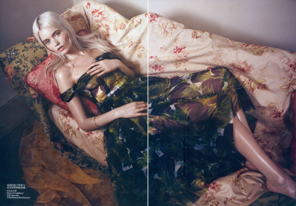 Vogue China May 2012 Bloom Forth,  Abbey Lee Kershaw by Lachlan Bailey