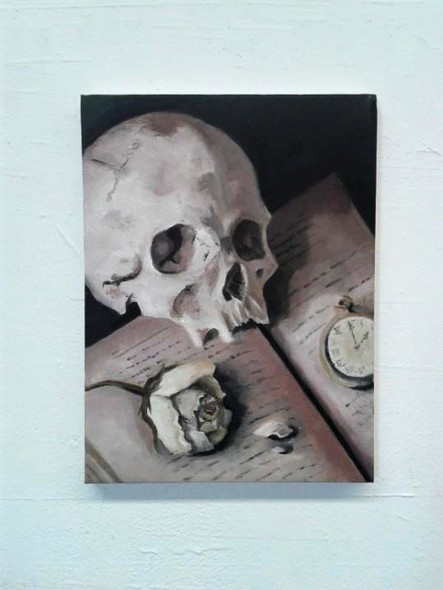 eatsleepdraw:  Vanitas Oil on canvas simplistic-inspiration.tumblr.com