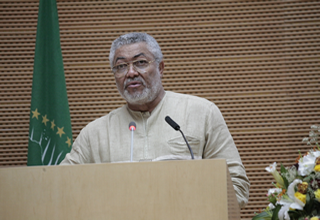 Ghana's former President, Flt Lt Jerry John Rawlings Rawlings: Over-Reliance On Foreign Investment Makes Africa Vulnerable @nepad