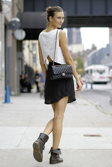 Flaunting Her Classic Chanel Bag…Meatpacking District, NYC (via Fashionologie)
