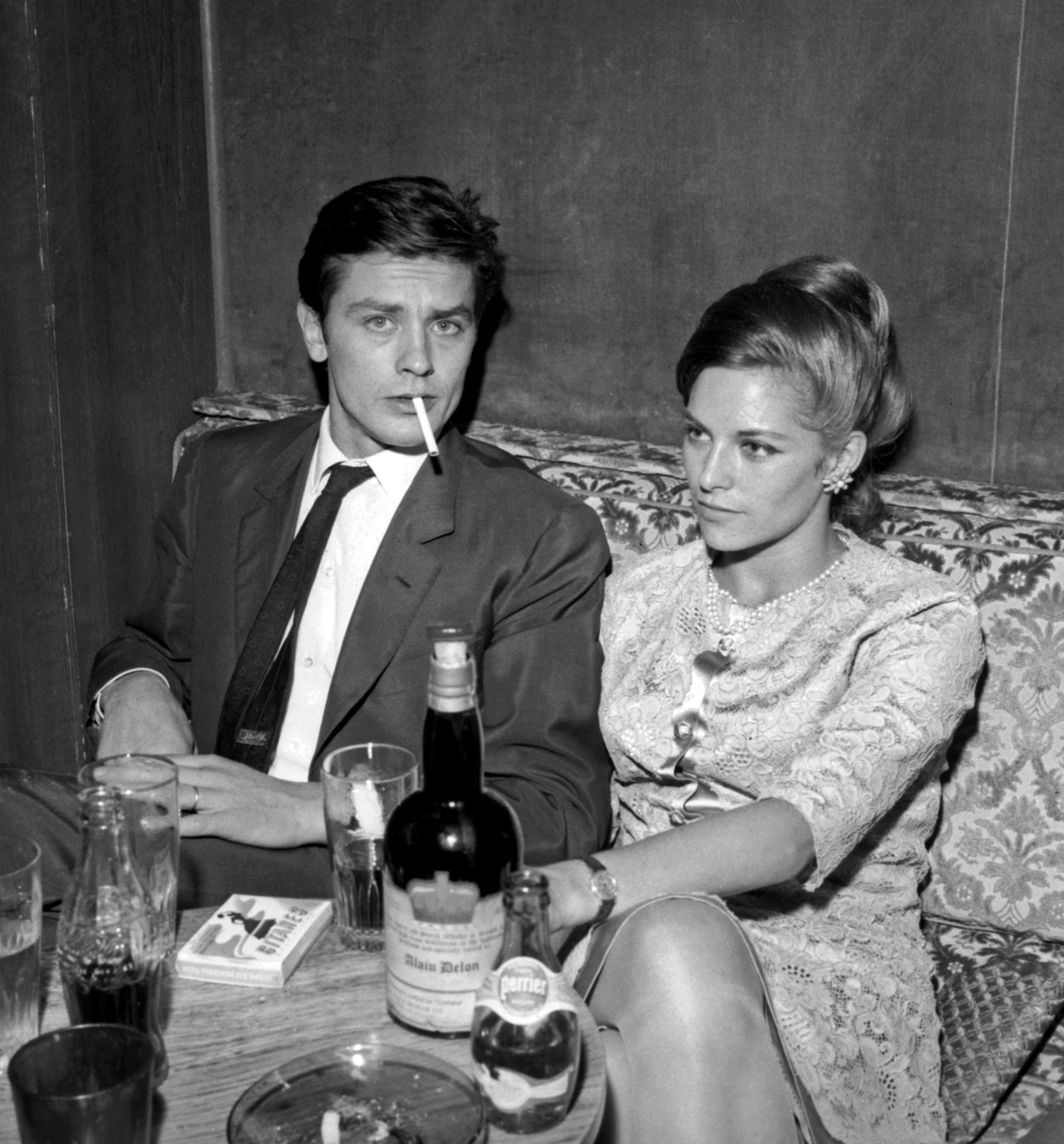 alaindelon:  With Nathalie, 1965.