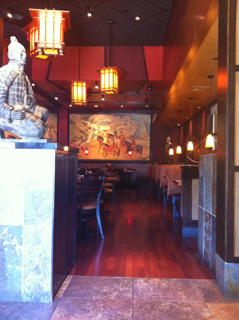 Where I eat the day after not doing a marathon :) P.F. Chang's