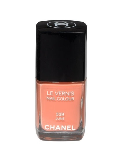 "Too cute! Should have been included in my nail polish post. Chanel ""June"""