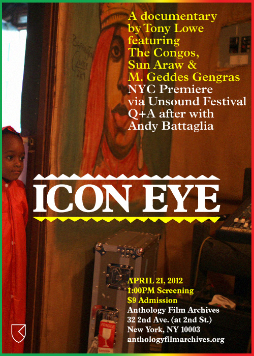 ICON EYE at ANTHOLOGY FILM ARCHIVES 4/21