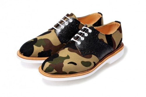 McNasty x BAPE Camo Saddle Shoes