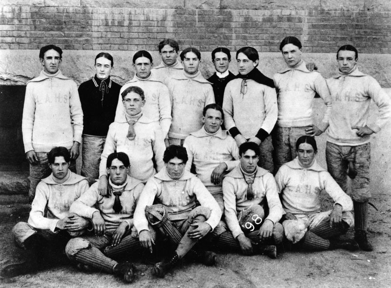 A Los Angeles High School soccer team, pictured in 1898. Source: Los Angeles Public Library