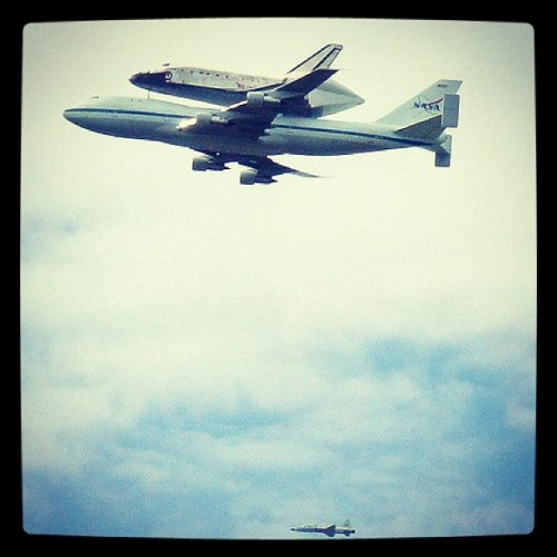 Oh hey a 747 just flew by with a Space Shuttle on its back.