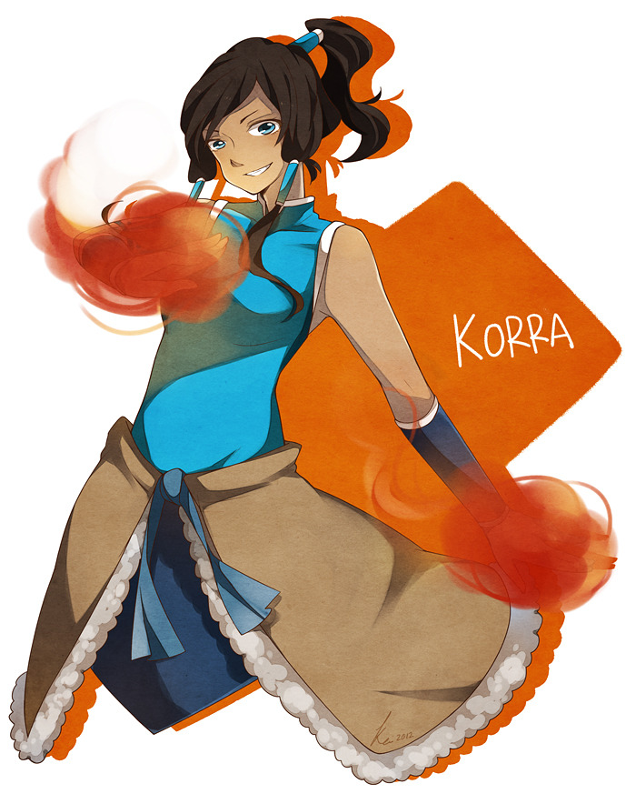My first fanart of Korra. Well hello there new fandom, hope we'll be getting along in the future.-3- I really enjoy colour the skin part, consider that I didn't really have much chance to colour dark skin characters hehe.