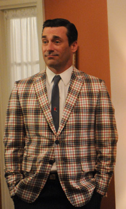 yourdailyjonhamm Don has got his country plaid on and plaid has never looked so good.