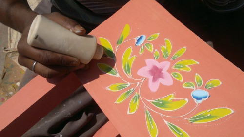 SNEAK PEEK: How the artisans at Sierra Living Concepts design the handpainted furniture.