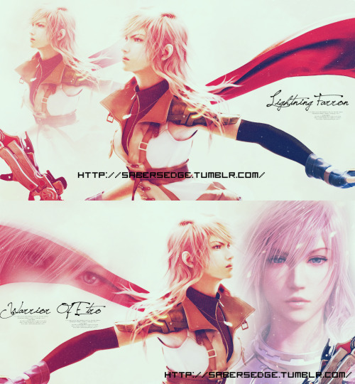 sabersedge:  An edit of mine dedicated to our beloved Lightning Farron,the lone warrior who has made the impossible possible! <3