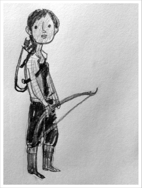 Kate Beaton draws Katniss Everdeen