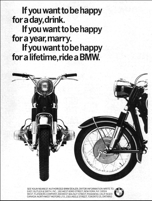 ℞ for happiness: vintage 1965 ad from bmw