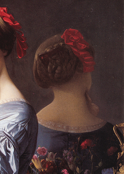 wycherley:  Jean-Auguste-Dominique Ingres (1780-1867), Portrait of Countess D'Haussonville (detail), 1845