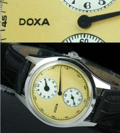 "Vintage DOXA ""Doctor's"" Regulator Watch. The dial has been repainted, but this is still a gorgeous time piece."
