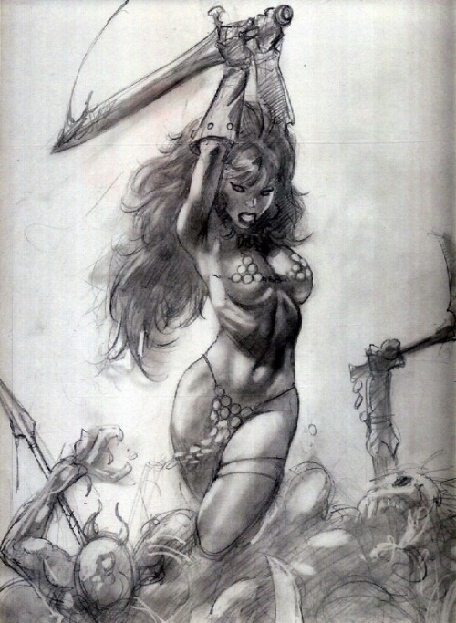 Red Sonja by Alex Horley. (my bad, I posted this pic recently, sorry about that)