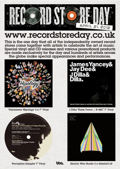 Sat 21st April is RSD. They'll be q-ing round the blox for these…
