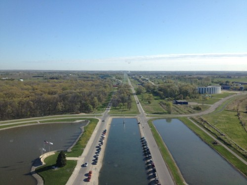 View from the 15th floor of Fermi National Accelerator Laboratory in Batavia, IL. Taken last week on my lovely trip home to Chicago.