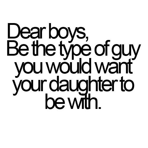 Dear, ALL BOYS!