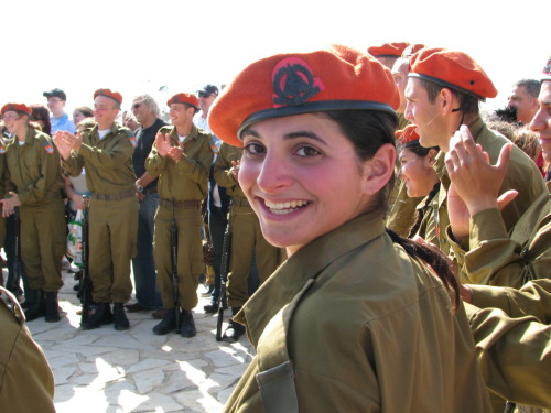 israelscouts:  Israel Photo of the Day - Tekes Garin Tzabar, Tzofim's army program for Diaspora Jews who want to serve in the Israeli army, while maintaining and growing a network and family of like-minded peers. This photograph captures Garin Tzabar participants happily celebrating a step forward in their progress; at a tekes, or ceremony, as part of their army service. On breaks from their service, Garin Tzabar participants return home to their host Kibbutz to relax and spend time with their Garin; their community; their friends; their family.