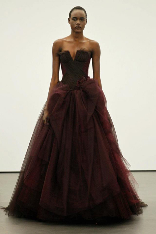 blackfashion:  Ajak Deng  in Vera Wang Spring 2013 Bridal collection