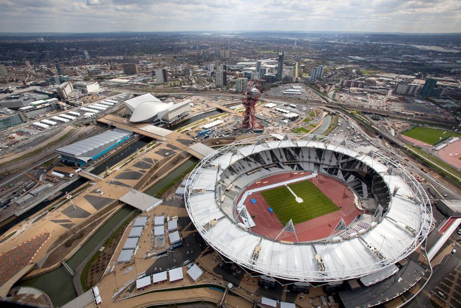 nationalpostsports:  The London Organising Committee of the Olympic Games (LOCOG) released a series of aerial photographs showcasing the venues where modern gladiators will try to best each other during the 2012 London Olympic Games.