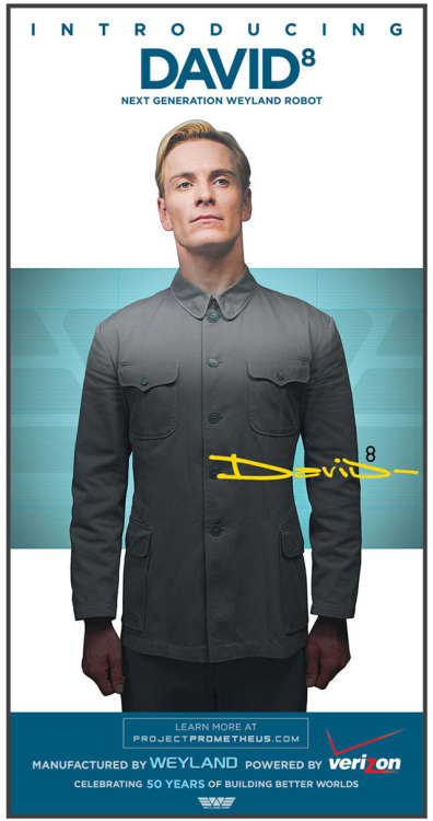 Prometheus (Dir. Ridley Scott) David 8 Viral Marketing Poster.