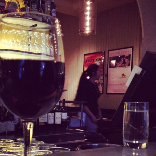 A glass of red at Grill Ruby, old town #livestockholm #sweden #travel (Taken with instagram)