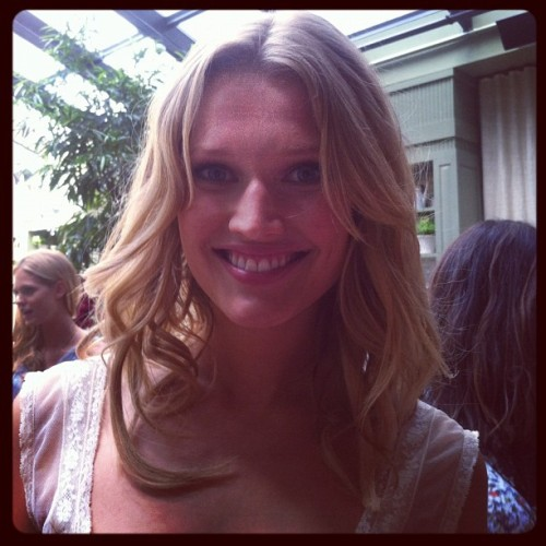Toni Garrn at the Victoria's Secret Love is Heavenly launch Photographed by Laurel Pantin