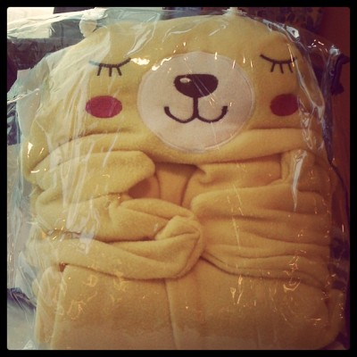 New blanket. With hoodie and mittens! :p (Taken with instagram)