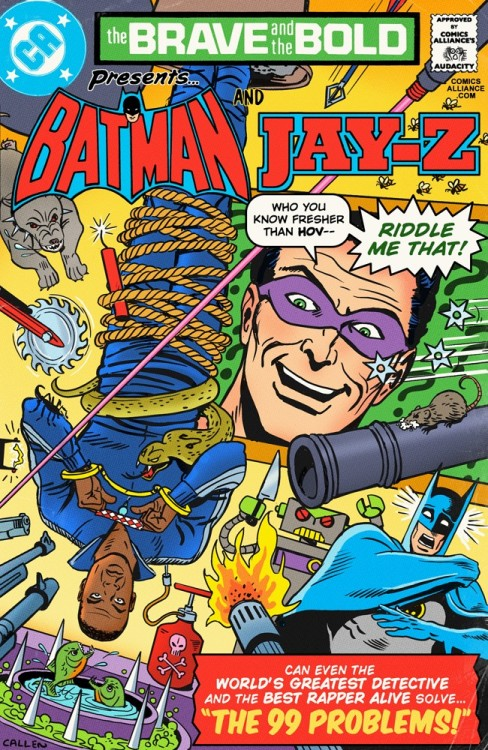 comicsalliance:  Great Comics that Never Happened: Batman and Jay-Z Solve 99 Problems!  By Chris Sims In our recurring feature, ComicsAlliance brings you the best comic book adventures that do not, could not, and sometimes should not exist: Great Comics That Never Happened! This week, Chris Sims and the amazing artist Kerry Callen bring you the greatest team-up of all: Batman and Jay-Z!  Read more.