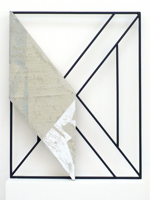 Jonathan Runcio-Untitled-2, Screenprint, concrete, and steel