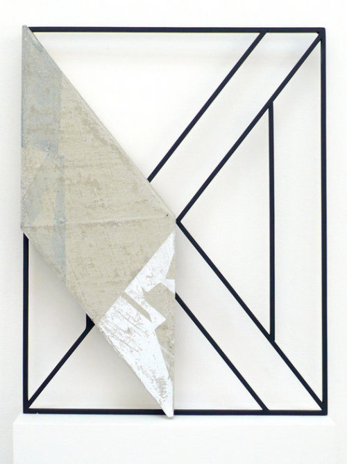 theories-of:  Jonathan Runcio-Untitled-2, Screenprint, concrete, and steel
